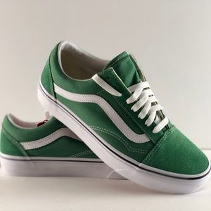 Vans Old Skool Deep Grass Green & True White Shoes